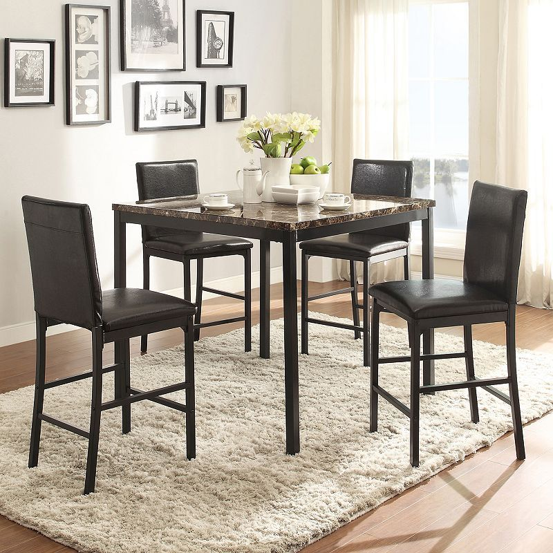 Homevance Catania 5 Piece Dining Table Chair Set 299 99 Kohl S