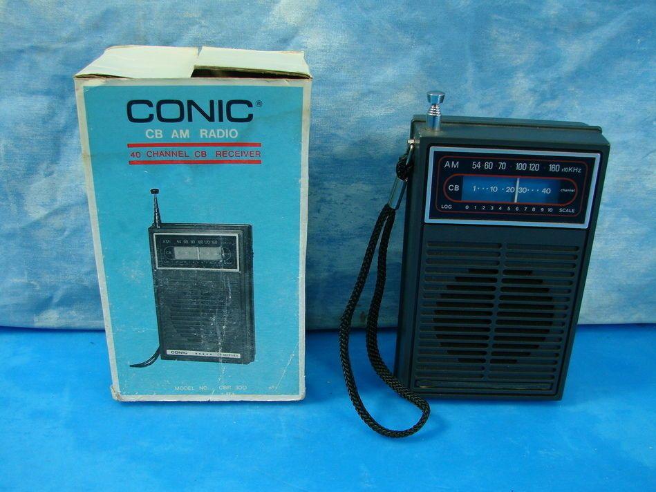 VTG CONIC CB AM Radio Transistor CB Receiver 40 Ch CBR 300 w