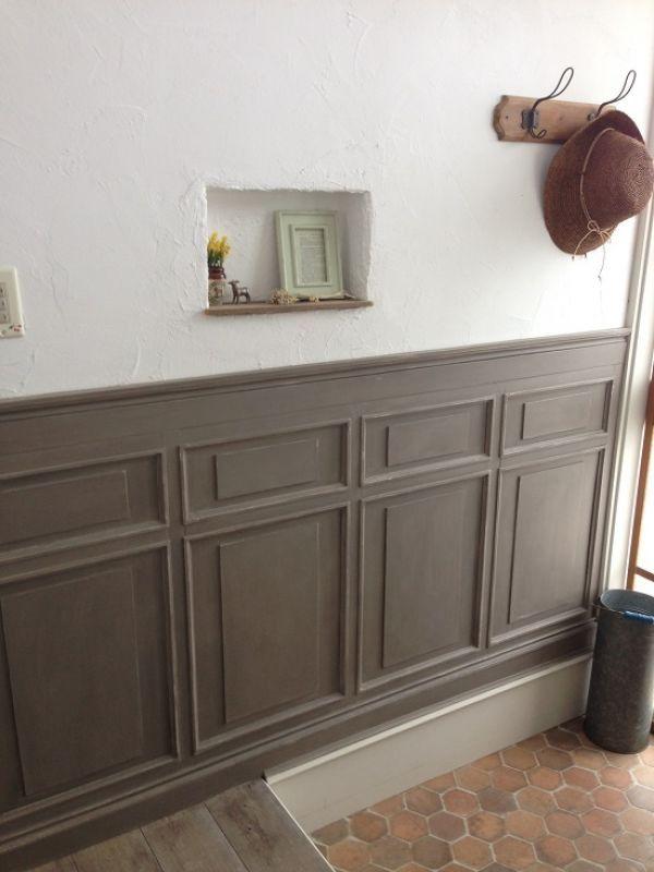 Akaneさんの作品 古い洋館風の造作腰壁を作りました セルフ