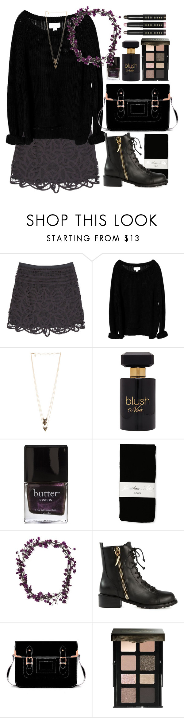 """""""Fall Floral Crown"""" by wildfawn ❤ liked on Polyvore featuring rag & bone, Issue 1.3, Forever 21, Butter London, Jonathan Aston, Berry, Giuseppe Zanotti and Bobbi Brown Cosmetics"""