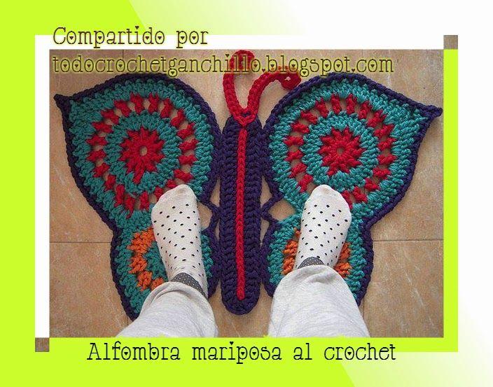 Todo crochet | Tapetes, Mariposas y Ganchillo