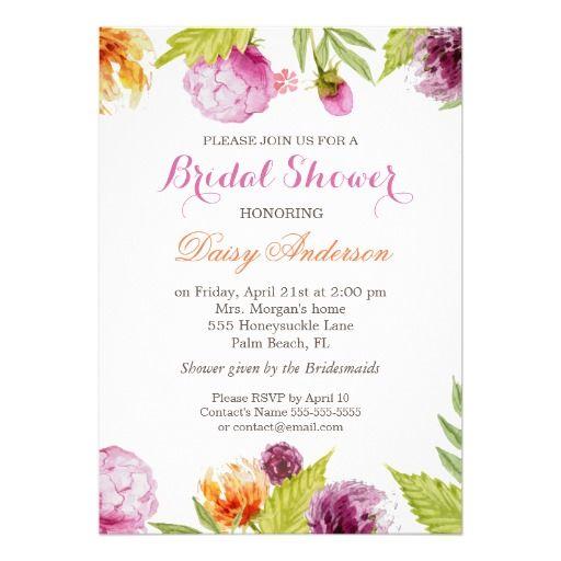 modern spring floral decor wedding bridal shower card decor