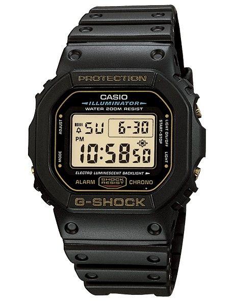 55f6b572227d2 Montre Casio G-Shock noir et jaune DW5600, modèle sport water resistant 200  mètres avec alarme et chronomètre.