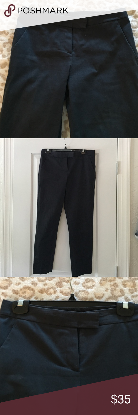 Theory navy pants Size 4 navy Theory pants. Great used condition. Theory Pants