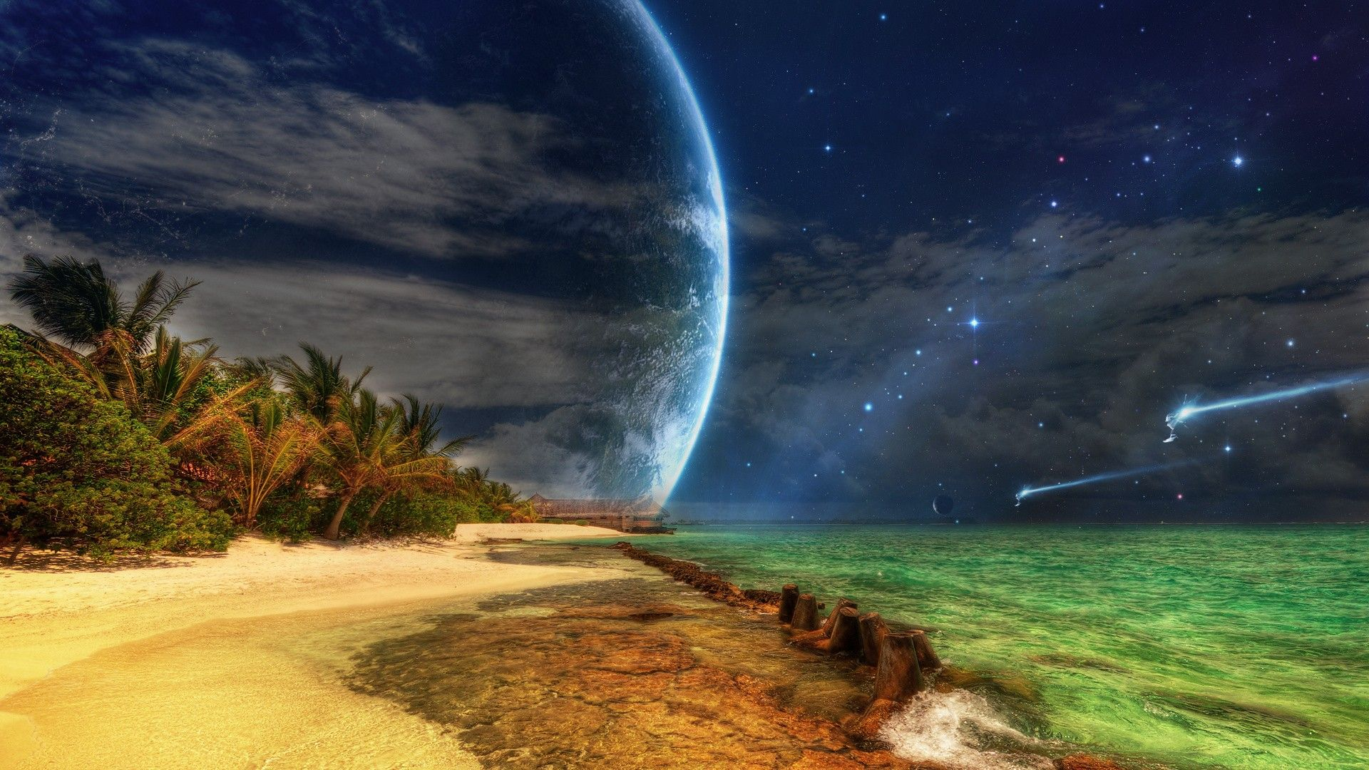 3d beach wallpapers free