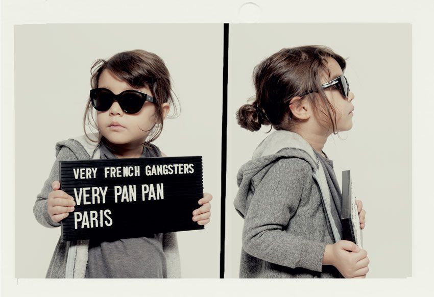 Ad for Very French Gangsters, eyewear for kids