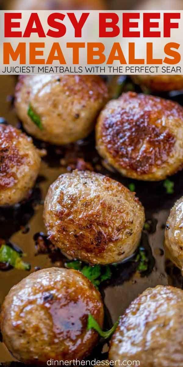Homemade Beef Meatball Recipe (Freezer Friendly) - Dinner, then Dessert