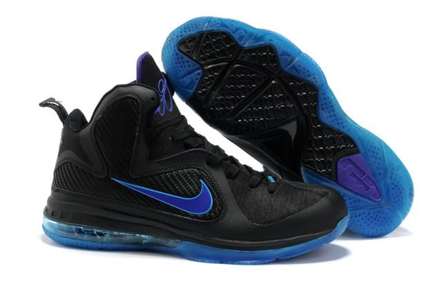 official photos 37bd6 77a42 Air Foamposite Nike LeBron 9 Black Royal Purple  Nike LeBron 9 - With black  upper with the brilliant varsity royal accents, this sneaker s color  blocking is ...