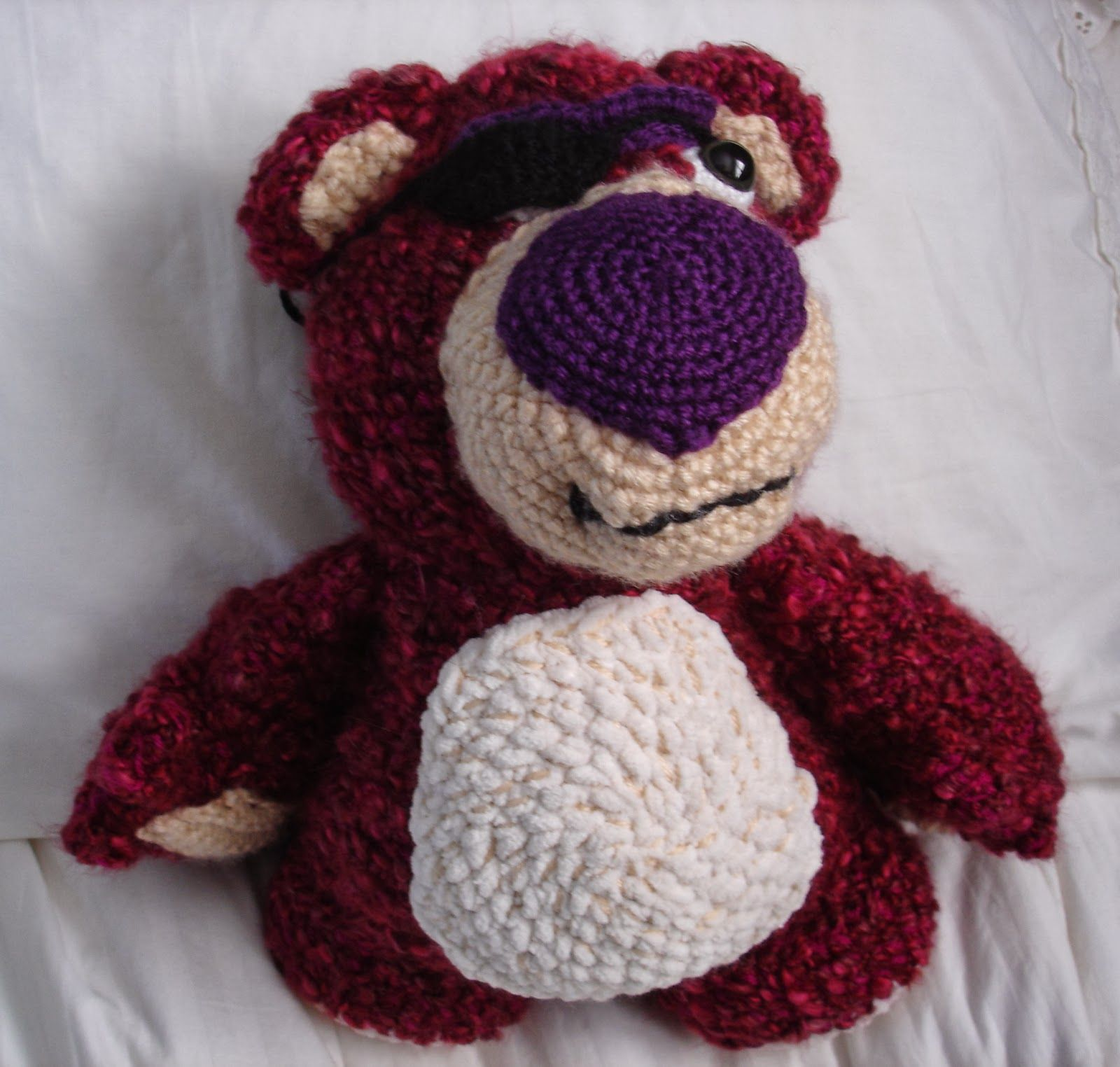 For the friend who loves Toy Story crochet them a Lots o Lovin Bear ...