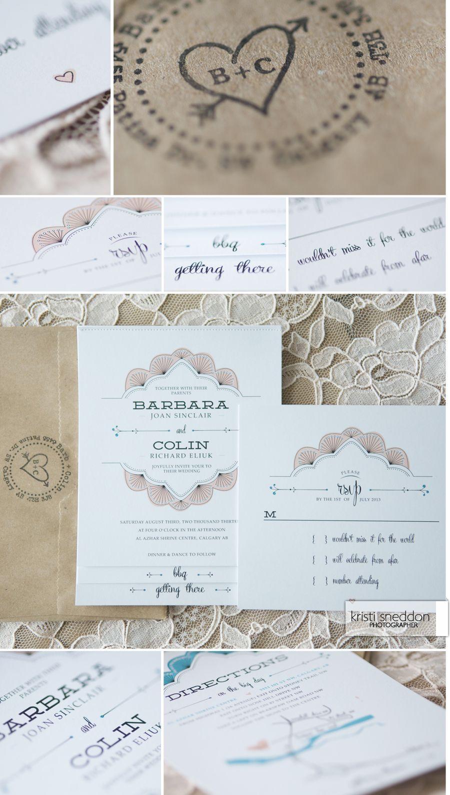 Gorgeous DIY wedding invitations