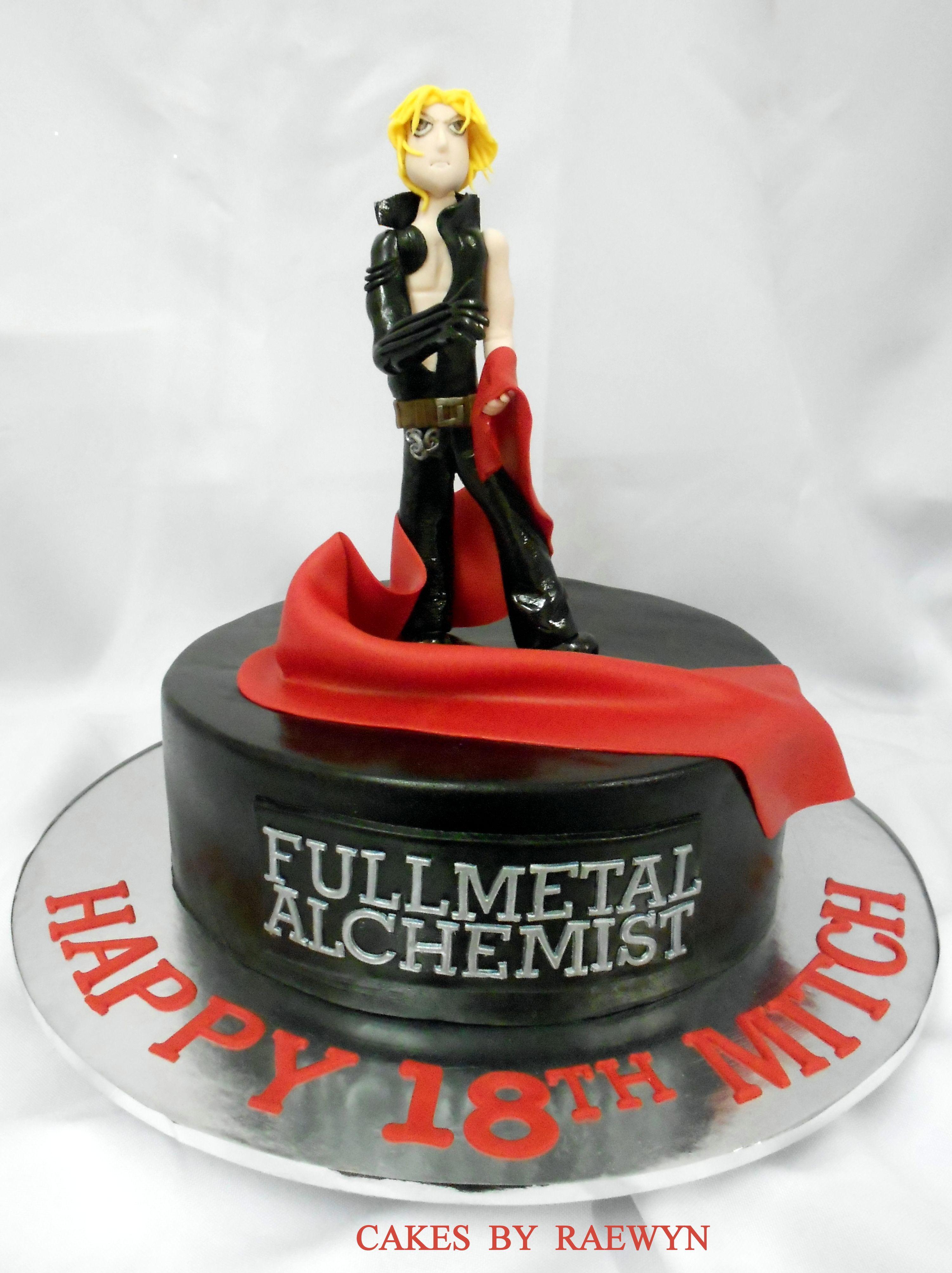 Edward Elric Full Metal Alchemist Anime Cake Cakes by