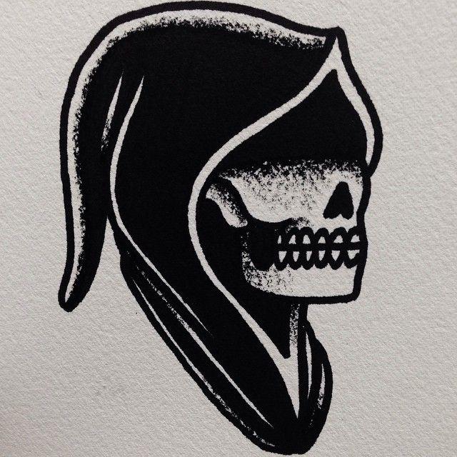 """mikeadamstattoo: """" Death is blind. Mike Adams. Homestead tattoo ..."""