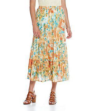 c1a9abe2f Reba Sahara Oasis Printed Tiered Midi Skirt | Rebastyle | Midi Skirt ...