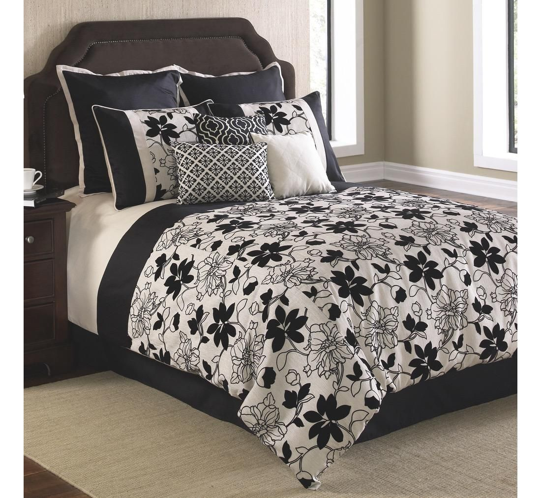 Ebony king comforter set badcock umore bedroom pinterest