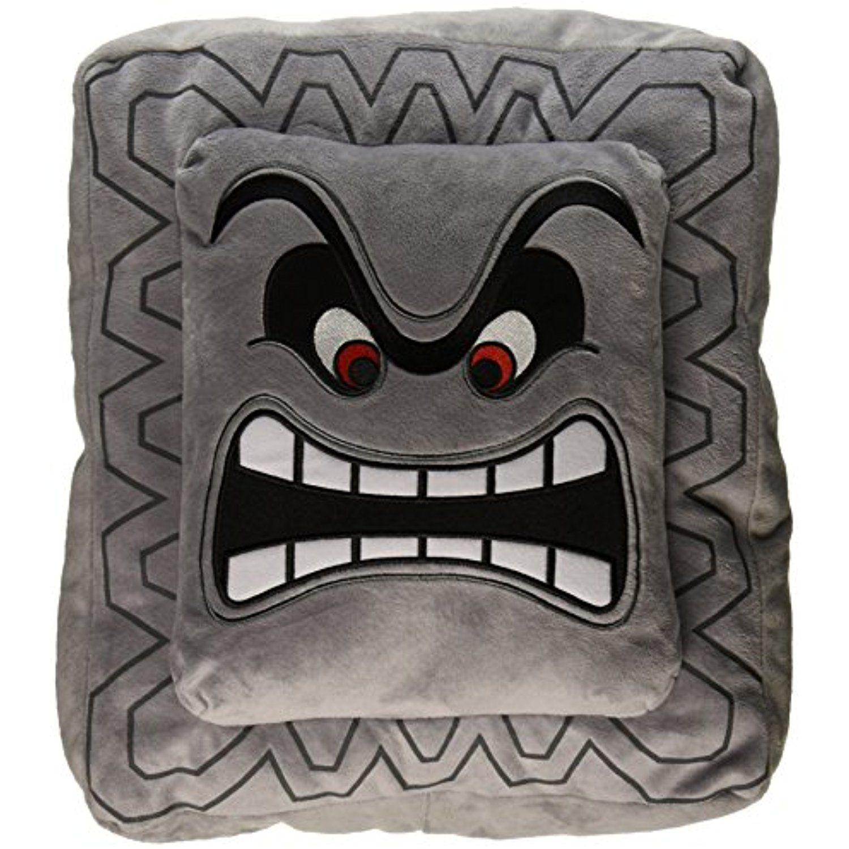 Nintendo official super mario thwomp cushionpillow plush