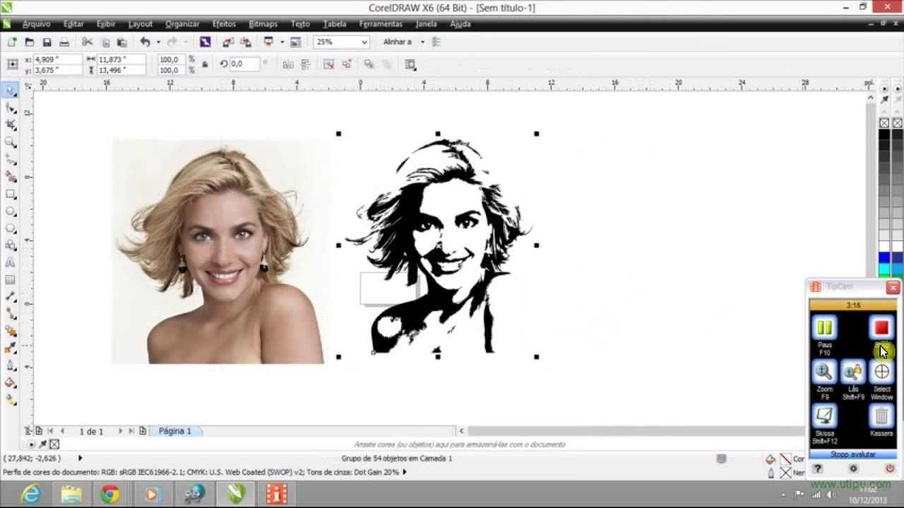 Transformando Imagem Em Desenho Coreldrawx6 Youtube Imagens De