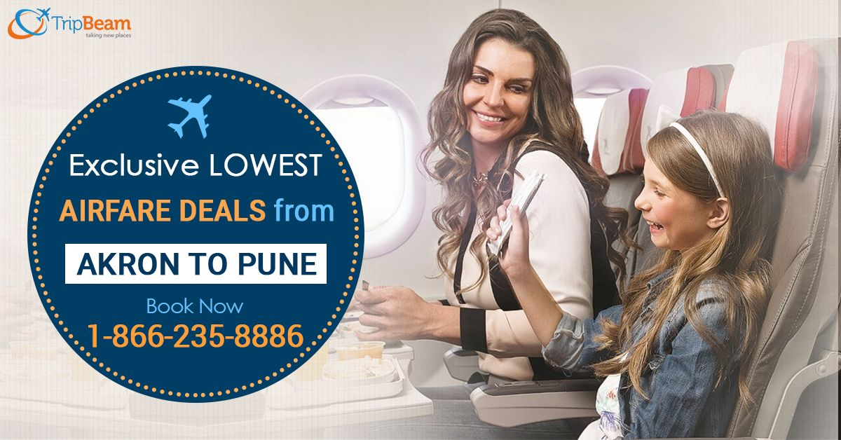 Grab exclusive lowest airfare deals from #Akron to #Pune with #Tripbeam! Easy booking and best price to save more.   For more information: Contact us at: 1-866-235-8886 (Toll-Free).  #TravelOffers #AkrontoPuneFlights #discountedflighttickets #bestdealstoindia #Vacations #Destinations #TouristsDestinations #Cheapflights #travel #Tourism #traveltopune