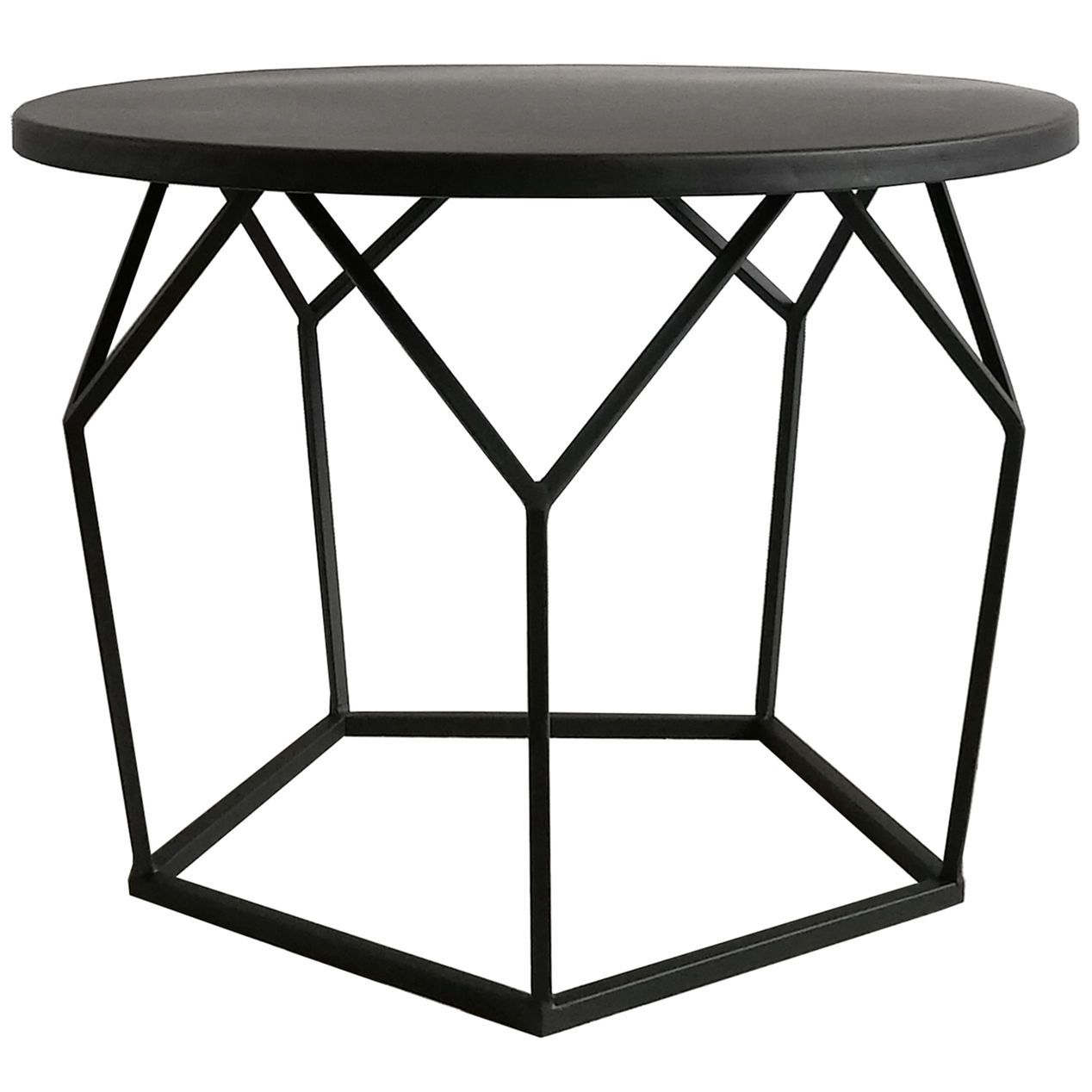 Black Mason Coffee Table 24 In At Home Metal Coffee Table