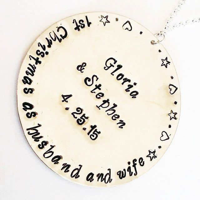 Personalized Christmas Ornament First Christmas as husband and wife, 1st Christmas as Mr. and Mrs. new home decoration custom names and date by RobertaValle on Etsy