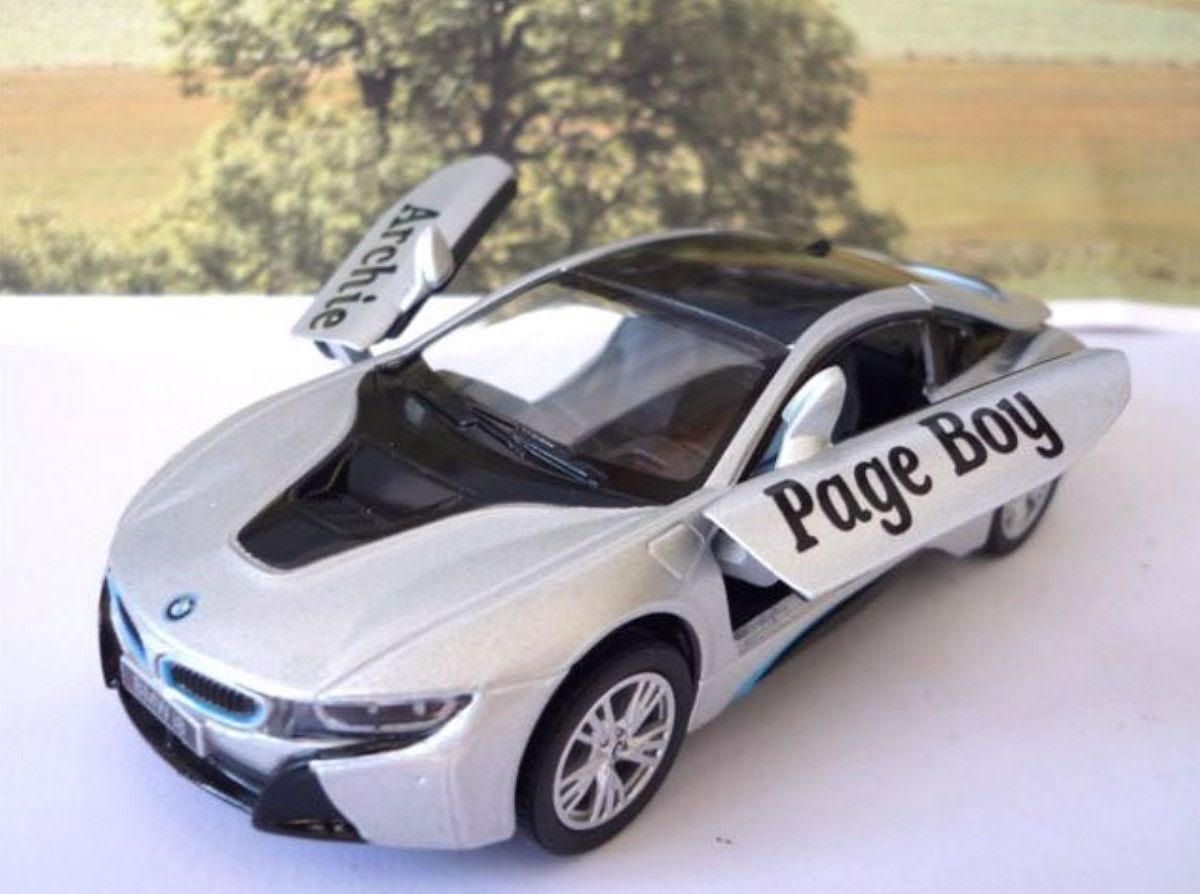 Wedding Day Car Gift Page Boy Silver Bmw I8 Boys Toy Model Bmw I8