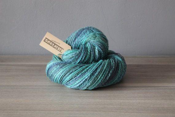 Handspun yarn  Jungle Night 1 by Lilirious on Etsy