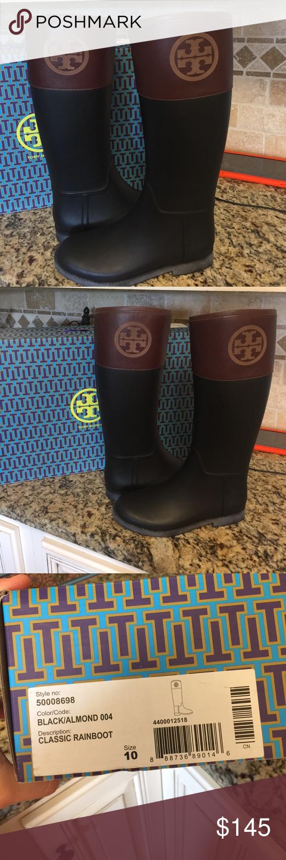 3b456edfd84 🎉🎉Tory Burch rain boots size 10 New in box🎉🎉 Gorgeous!!! I tried ...