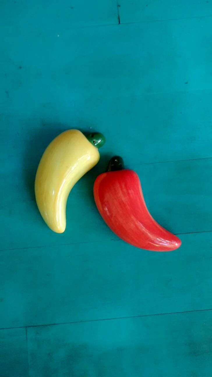 Chili pepper salt and pepper shakers set of orange and yellow ...