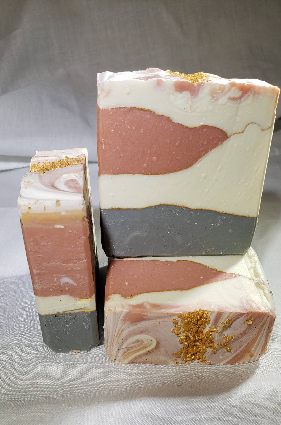 Cashmere fig multicolored handmade soap guest soap