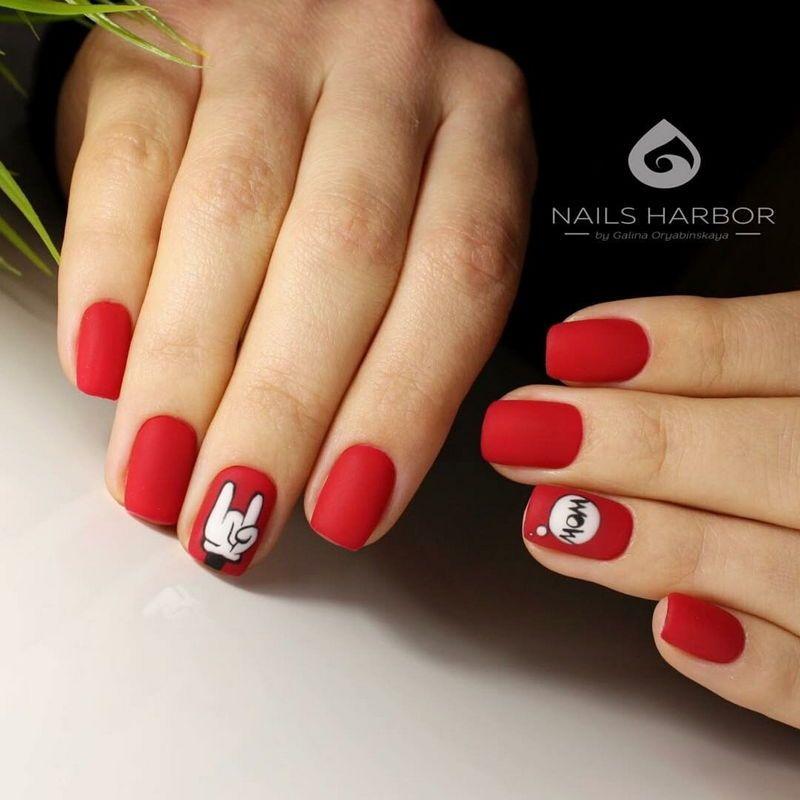 40 Amazing Red Acrylic Nail Art Designs - Fashonails