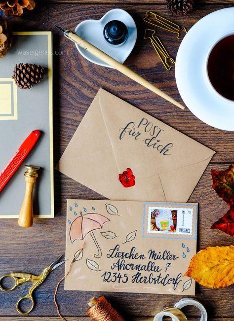 weihnachtspost diy pinterest handgeschriebene briefe. Black Bedroom Furniture Sets. Home Design Ideas