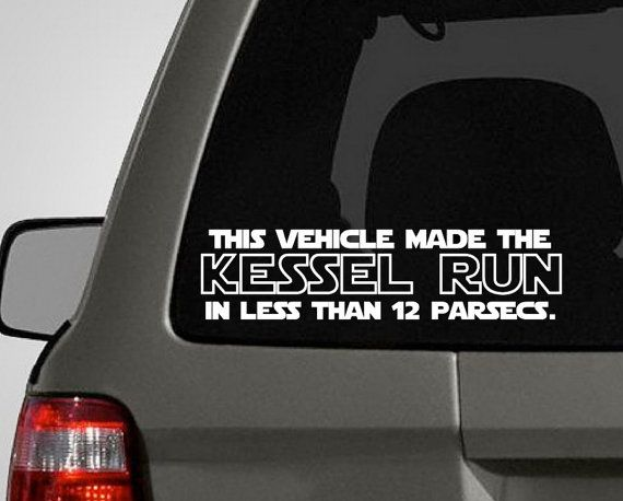 Star Wars bumper sticker! (#1 of many, I'm sure). I need an X-Wing Fighter to put it on!