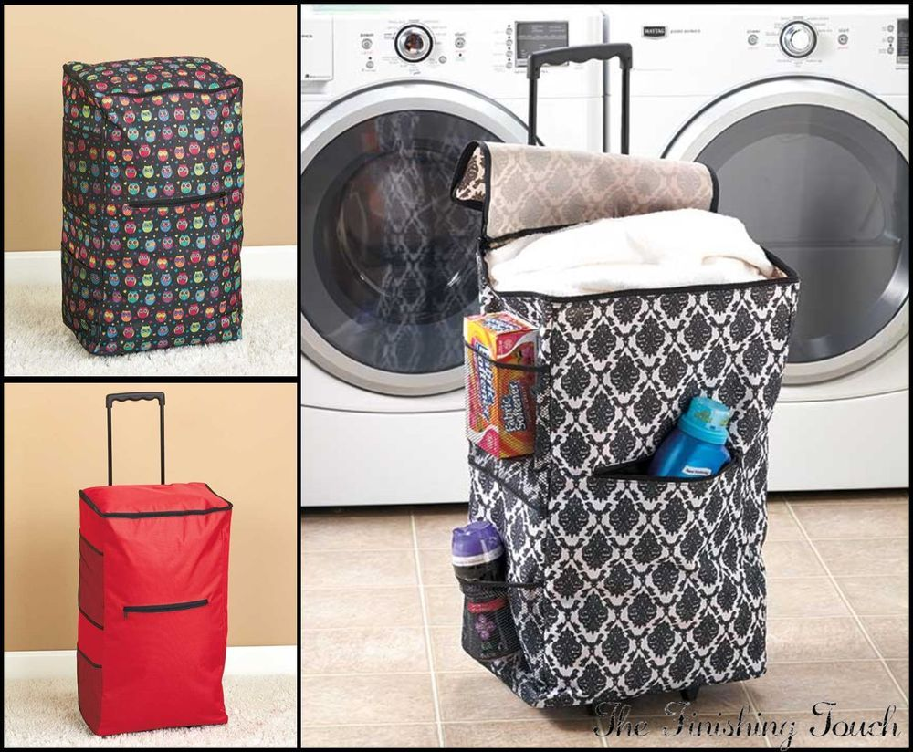 Portable Rolling Clothes Hamper Laundry Made Easy Only 23 48 With Images College Dorm Room Essentials Dorm Room Designs College Dorm Room Decor