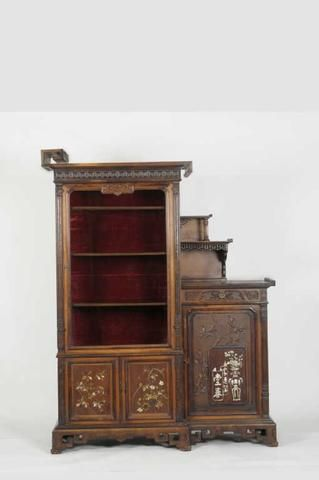 Viardot gabriel 1830 1906 rare meuble de collectionneur for Meuble oriental