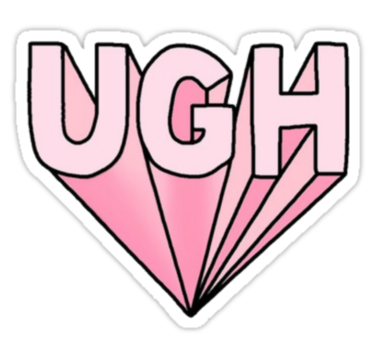Ugh By Lazyville Tumblr Stickers Tumblr Transparents Tumblr Png
