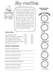 english worksheet my routine proyectos que intentar  english worksheet my routine
