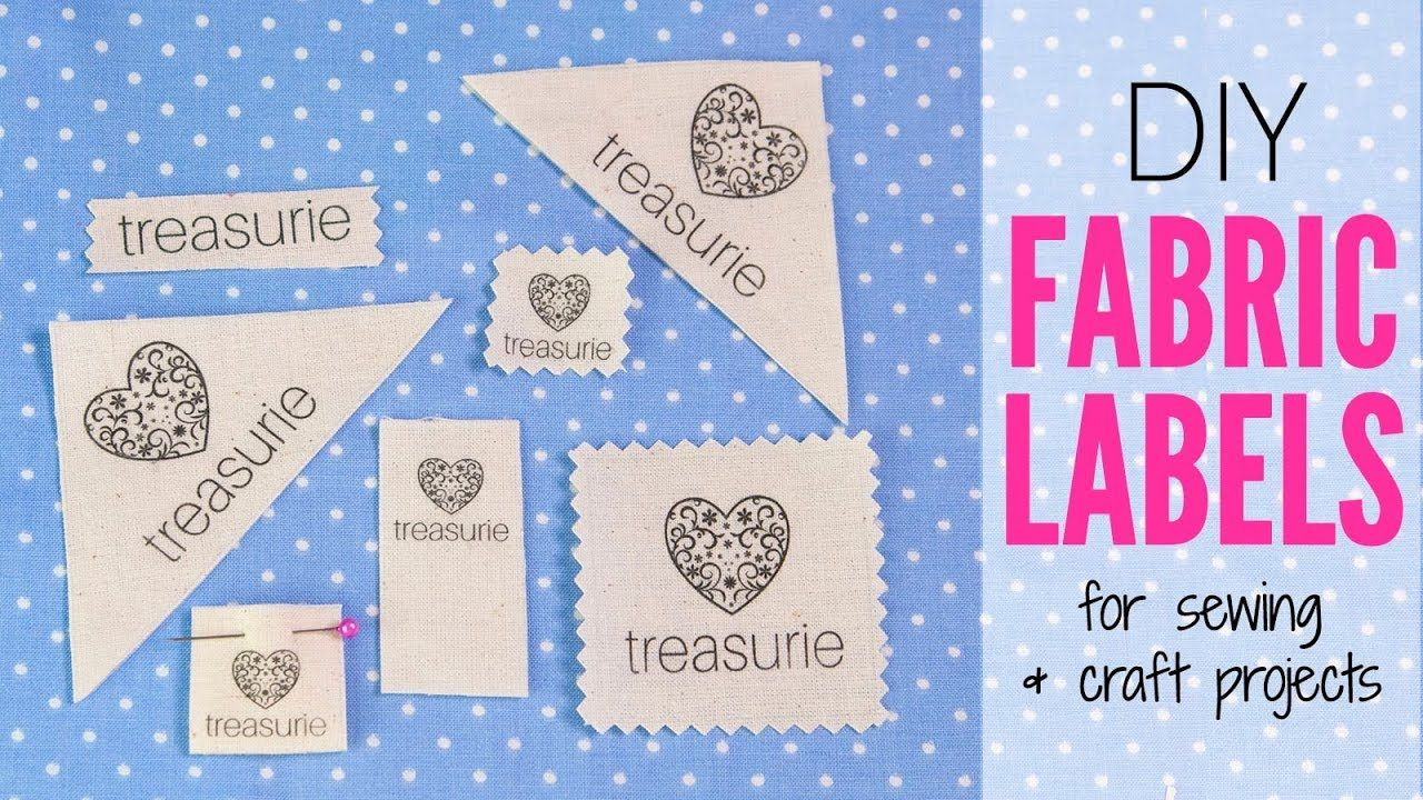 Make Your Own Clothing Labels Diy Fabric Labels Youtube Sewing Labels Custom Fabric Labels Diy Labels