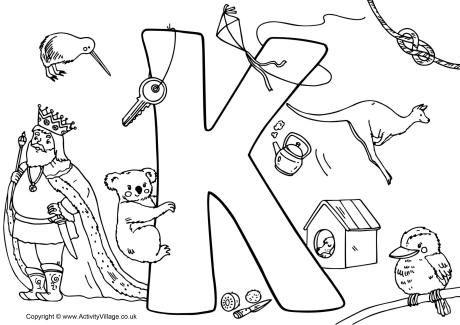 I Spy Alphabet Colouring Page K Colorir Paginas Para Colorir Paginas Para Colorir Natal
