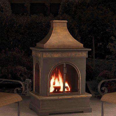 Sunjoy Brownston Steel Wood Burning Outdoor Fireplace Reviews