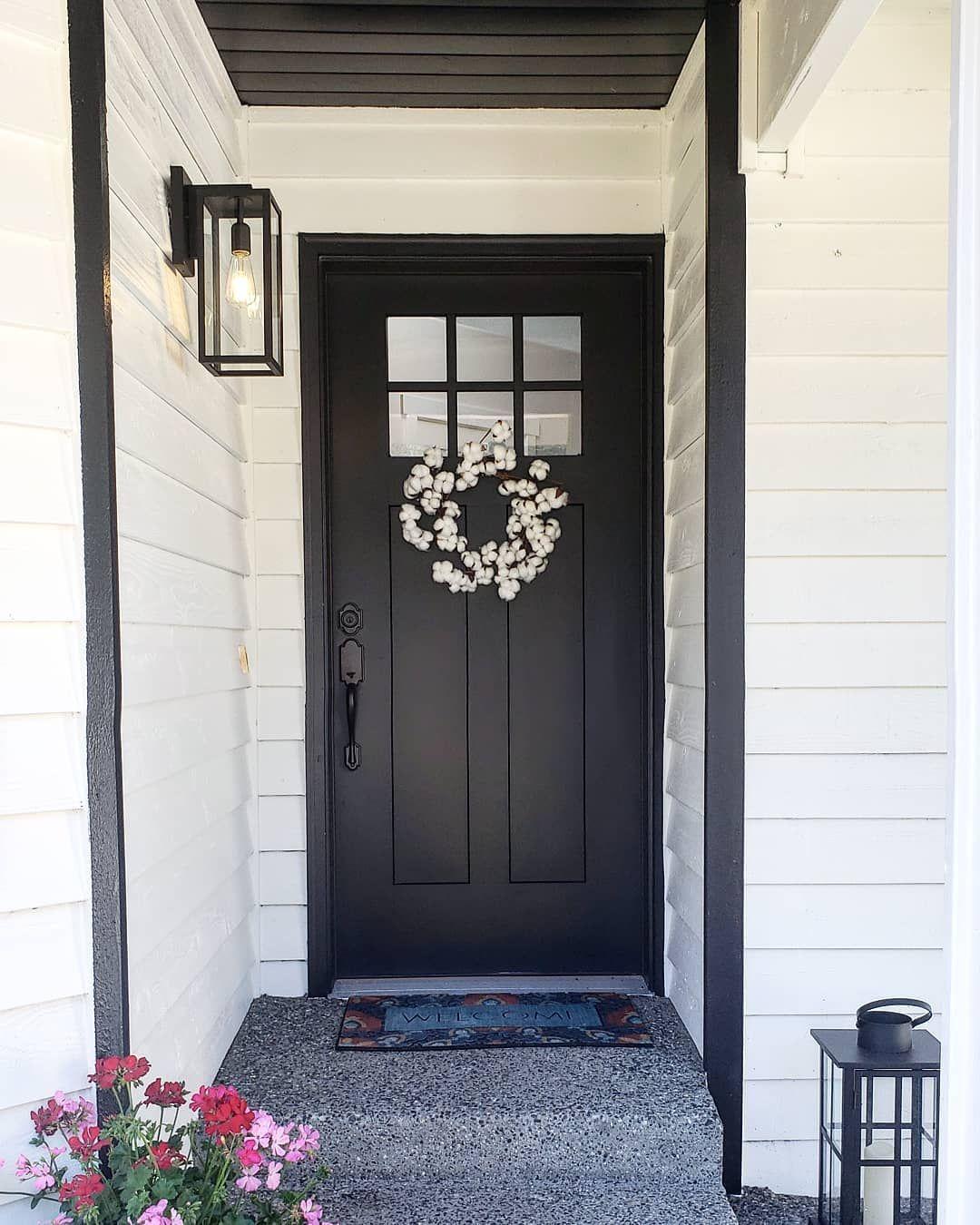 Black front door front door decor farmhouse black