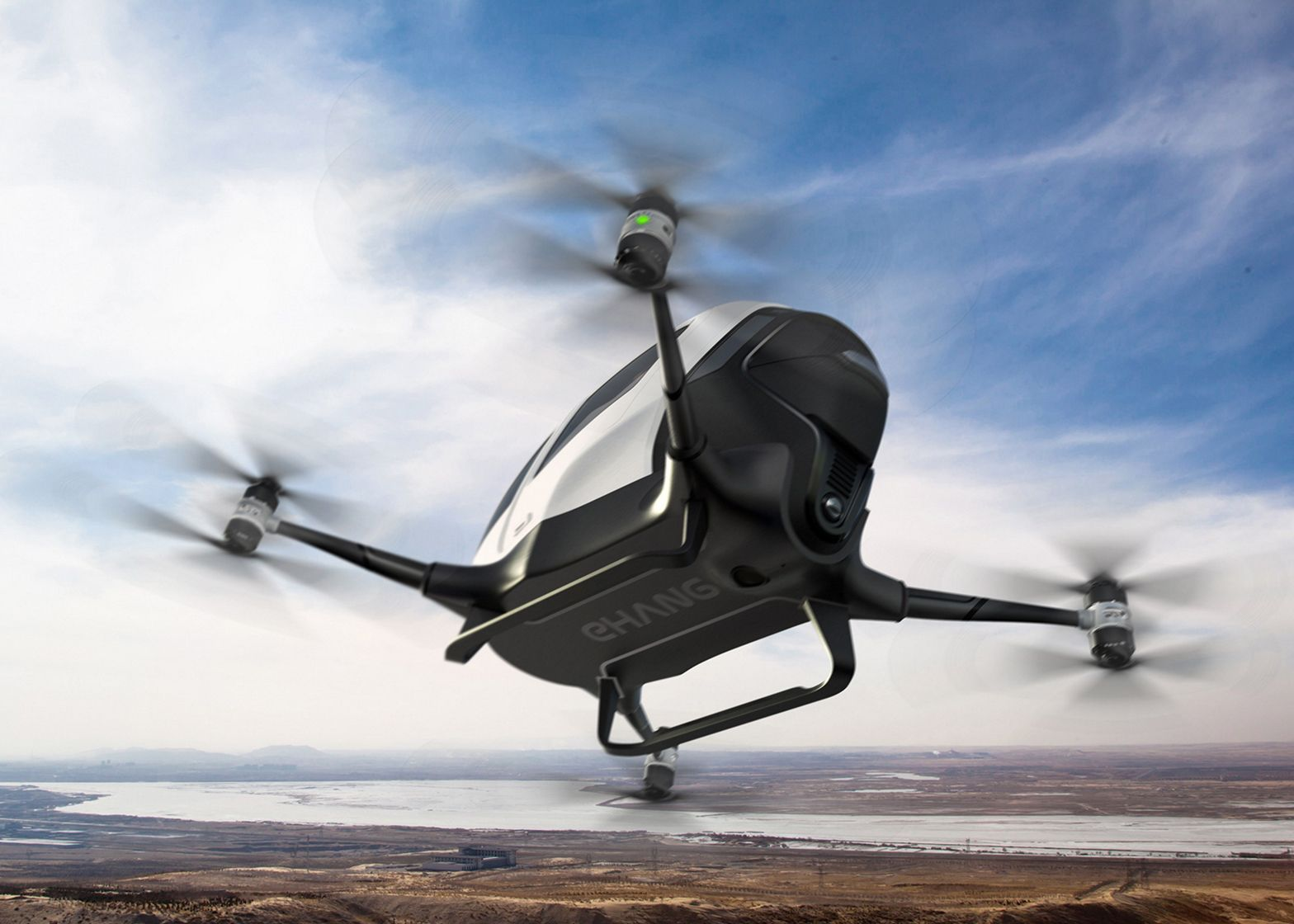 A passengercarrying drone that will transport individuals