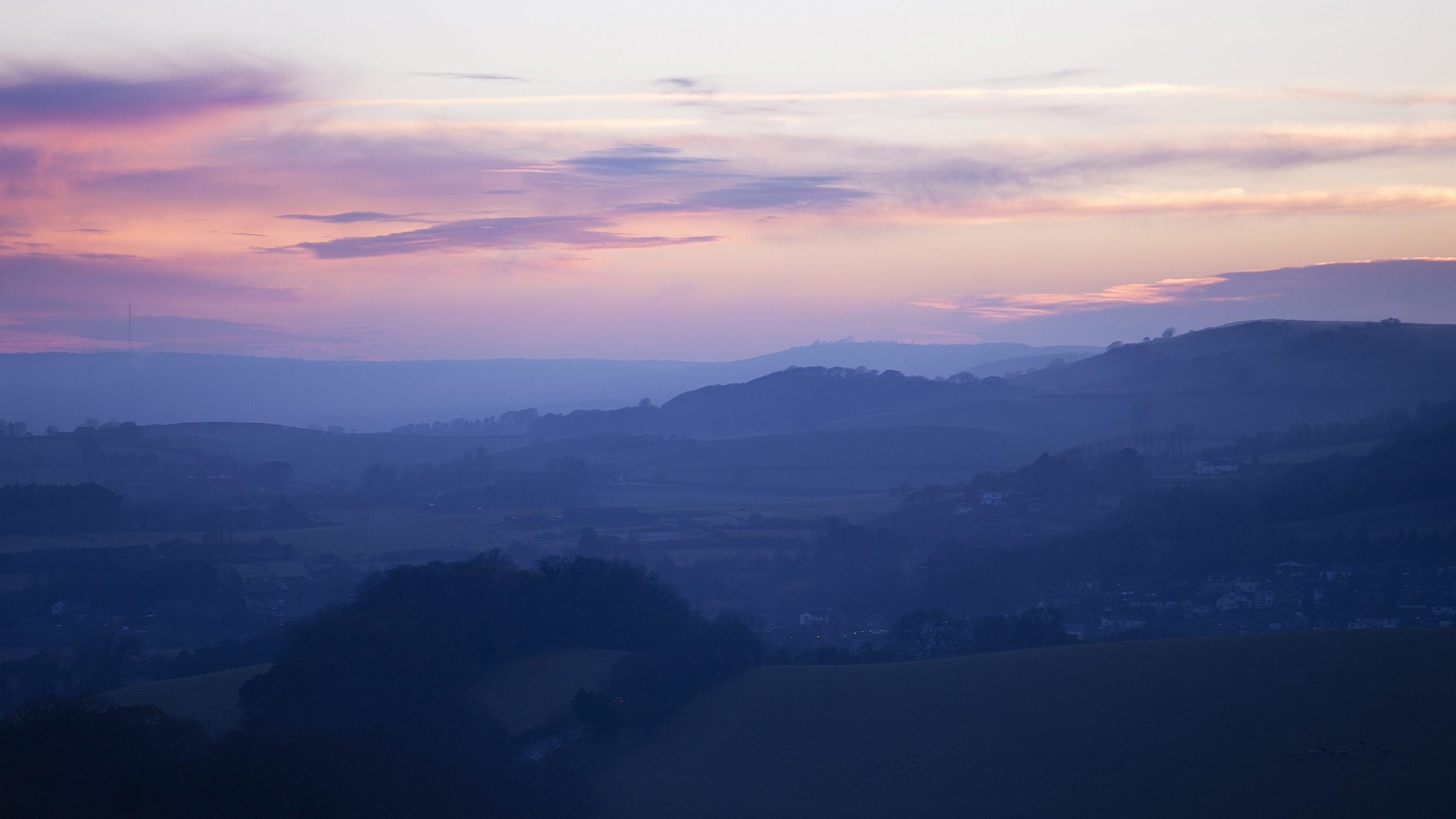 Blue Hills Sunset HD Wallpaper From Gallsource.com
