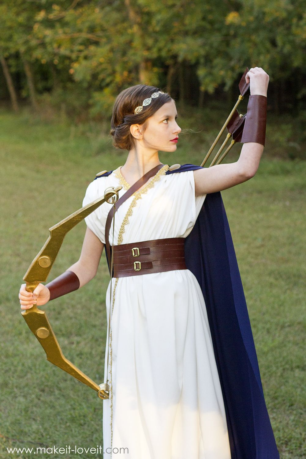 DIY Greek Goddess Costume ARTEMIS
