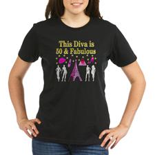 TRENDY 50TH Organic Women's T-Shirt (dark)http://www.cafepress.com/jlporiginals/6515976 #50yearsold #Happy50thbirthday #50thbirthdaygift #50thbirthdayidea #Personalized50th #Happy50th