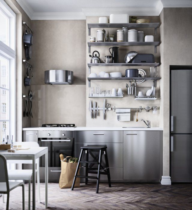 Crédence de cuisine peinte pour une déco pepsy   Cocina de acero ...