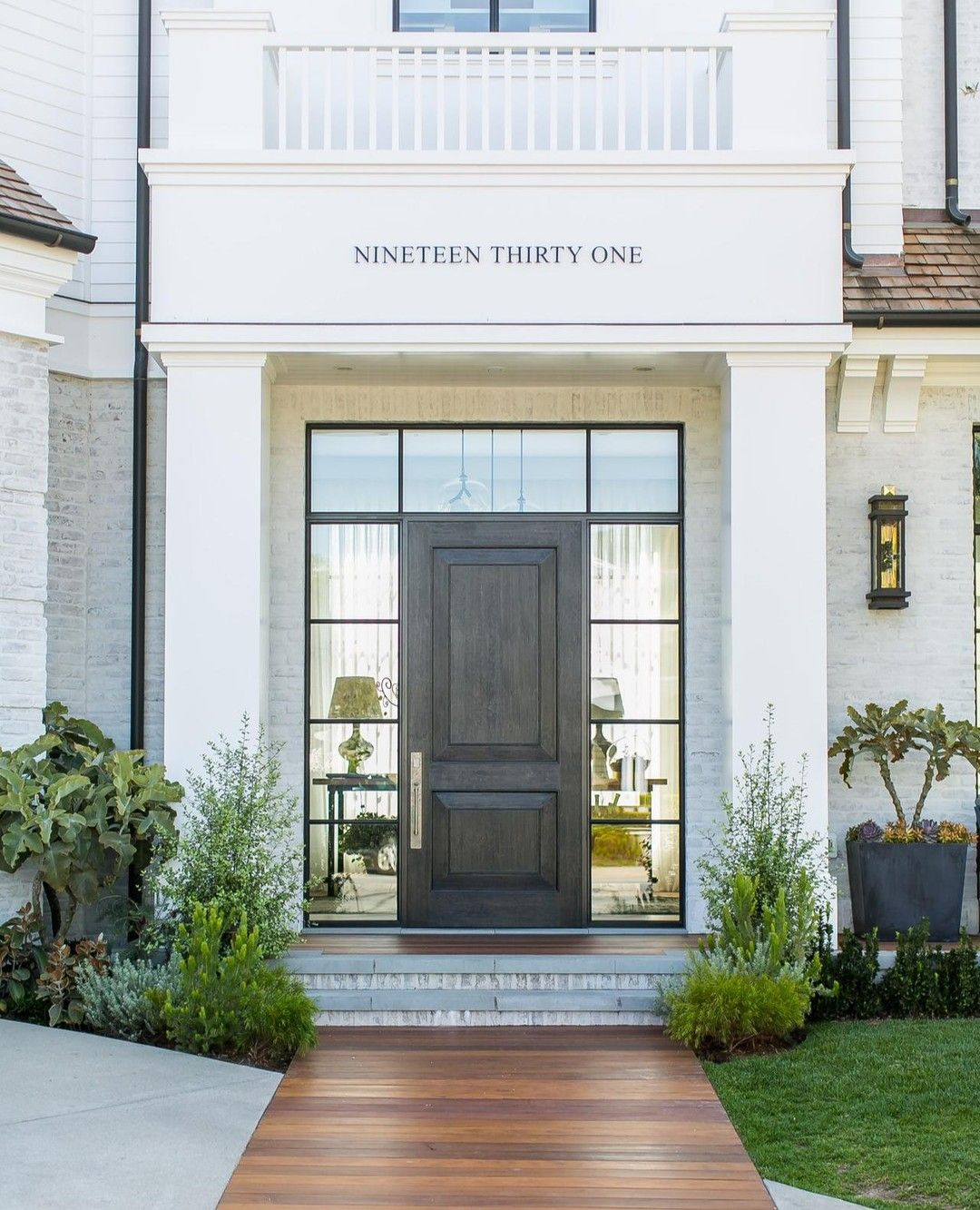 There is so much to love about this home's front entry we