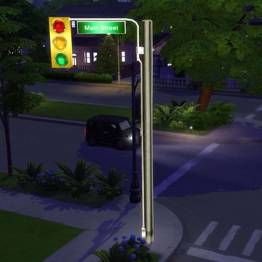 Leosims4cc Traffic Lamp Found Under Floor Lamps 1660 Poly Traffic Lamp Sims 4 Custom Content Sims