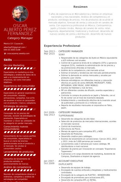 category manager Ejemplo de currículum | cv y más | Pinterest | Cv ...