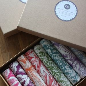 Set of eight abigail*ryan teatowels £80.00 - beautifully boxed and ready for giving... @abigail*ryan homewares