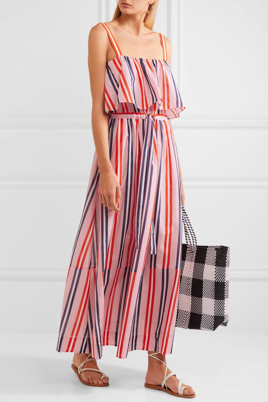 Striped silk cover-up Diane Von F 3f9Vj9