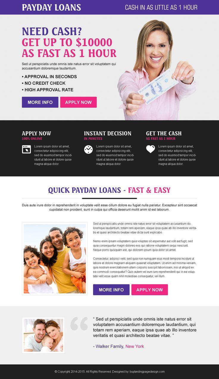 payday cash loan instant approval colorful call to action